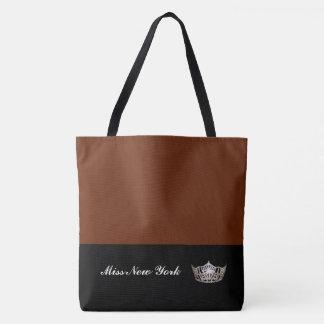 Miss America Silver Crown Tote Bag-Large Cinnamon