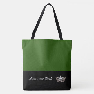 Miss America Silver Crown Tote Bag-Large Emerald