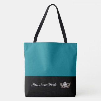 Miss America Silver Crown Tote Bag-Large Pacific