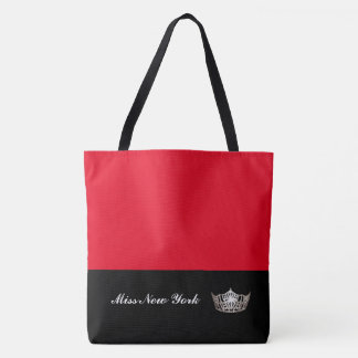 Miss America Silver Crown Tote Bag-Large Red