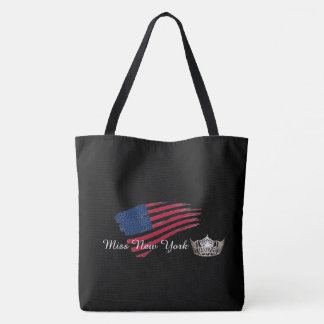 Miss America Silver Crown Tote Bag-Large US Flag