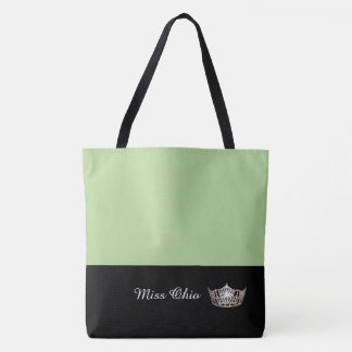 Miss America Silver Crown Tote Bag LRGE Honeydew