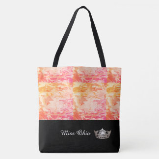 Miss America Silver Crown Tote Bag  Sunset Camo