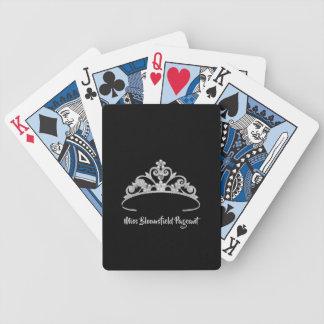 Miss America Silver Tiara Custom Playing Cards