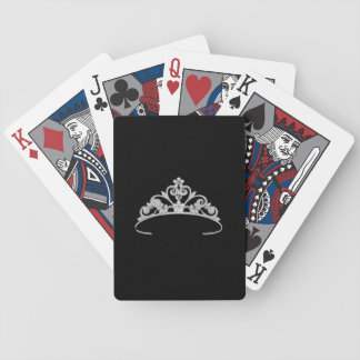 Miss America Silver Tiara Custom Playing Cards