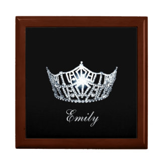 Miss America SILVR Crown Personal Name Jewerly Box