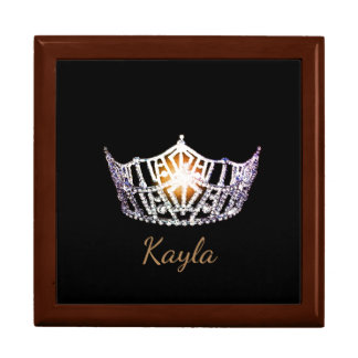 Miss America SLVR Crown Personal Name Jewerly Box