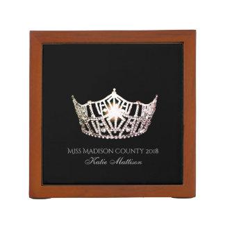 Miss America SLVR Crown Wood Desk Organizer-Title Desk Organizer