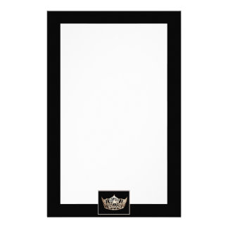 Miss America State style Crown Stationery