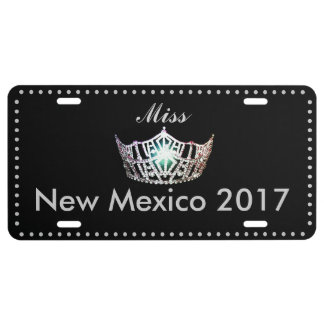 Miss America style Crown Aluminum License Plate
