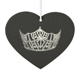 Miss America style Crown Car Air Freshener Black