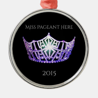 Miss America style Crown Christmas Ornament
