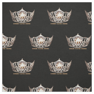 Miss America style Crown Custom Fabric