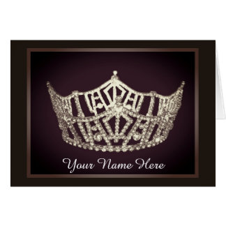 Miss America style Crown Custom Note Card