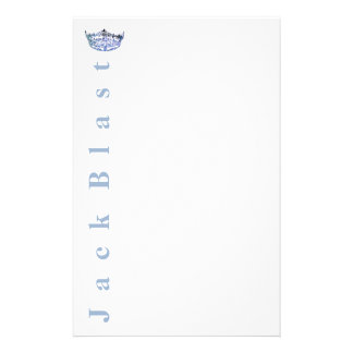 Miss America style Crown Stationery-Blue/White Custom Stationery