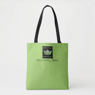 Miss America style Crown Tote in Green