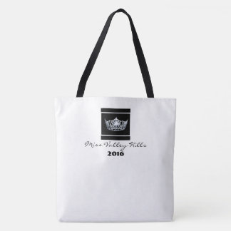 Miss America style Crown Tote in White