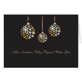 Miss America style Custom Christmas Ornament Card
