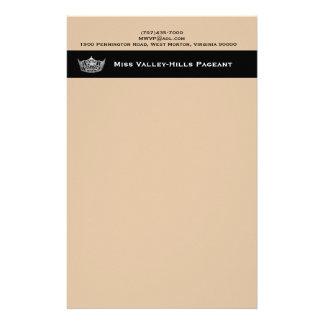 Miss America style Custom Custom Stationery Paper