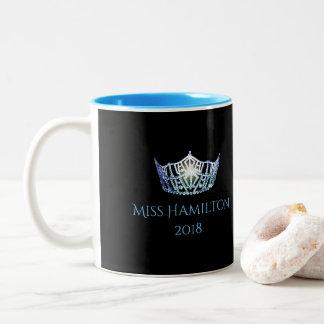Miss America style Custom Name Bby Blue Crown  Mug