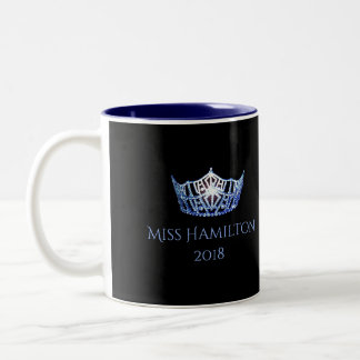Miss America style Custom Name Blue Crown  Mug