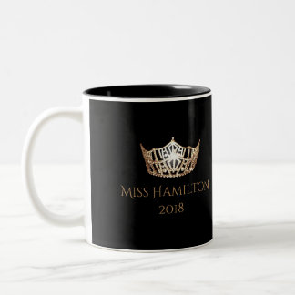 Miss America style Custom Name Gold Crown  Mug