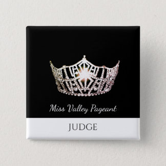 Miss America Style Judges Custom Button Pin