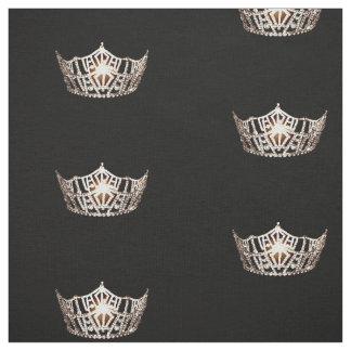 Miss America style Large Crown Pattern Fabric