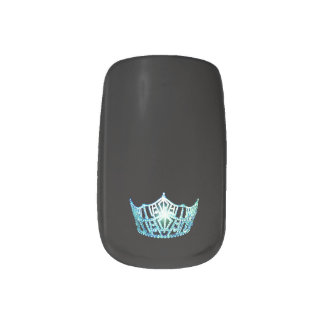 Miss America style Minx Nails Aqua Crown Minx Nail Art