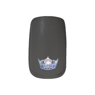 Miss America style Minx Nails Blue Crown Minx Nail Art