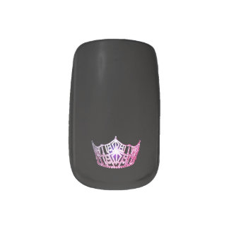 Miss America style Minx Nails Pink Crown Minx Nail Art