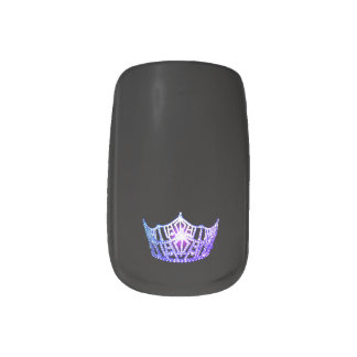 Miss America style Minx Nails Purple Crown Minx Nail Art