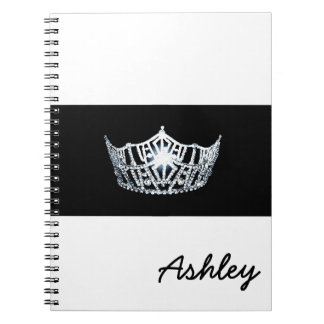 Miss America style Notebook-Crown & Custom Name Notebook