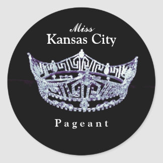 Miss America style Pageant Crown Sticker