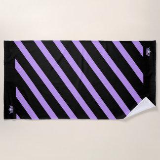 Miss America style Stripe Lilac Crown Beach Towel