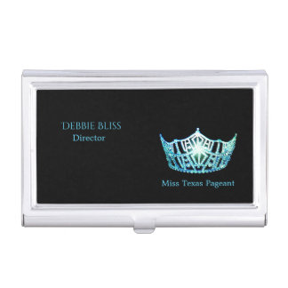 Miss America Turquoise Crown Business Card Holder