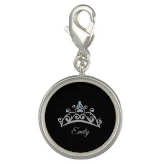 Miss America USA Rodeo Silver Tiara SP Charm-Name Photo Charms