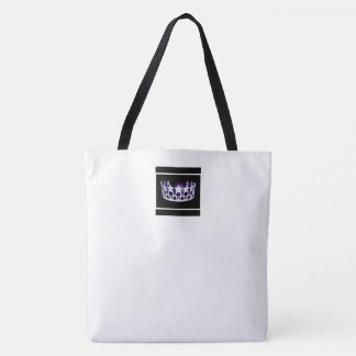 Miss America USA style Crown Tote in White