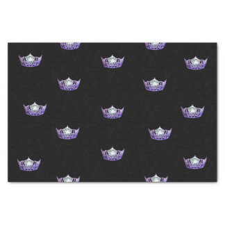 Miss America Violet Crown Tissue Paper