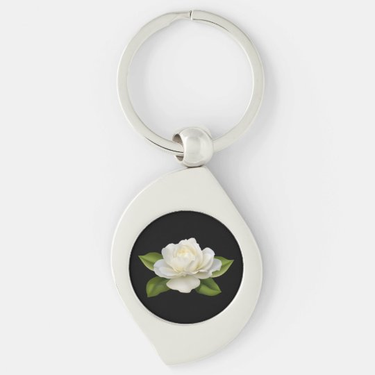Miss America White Rose Metal Key chain