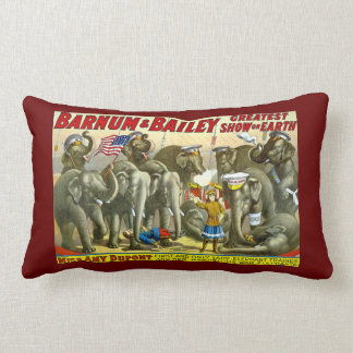 Miss Amy Dupont Trained Circus Elephants Barnum Lumbar Pillow