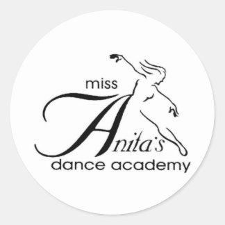 Miss Anita's Round Sticker