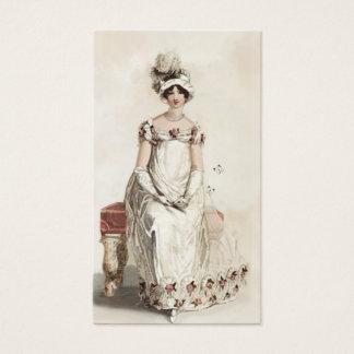 """Miss Bennet""  on cream Business Card"