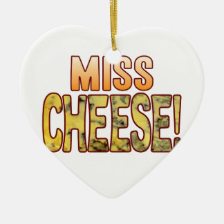Miss Blue Cheese Ceramic Heart Ornament