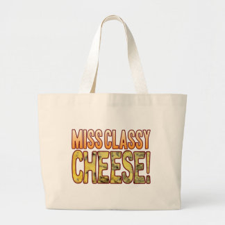 Miss Classy Blue Cheese Large Tote Bag