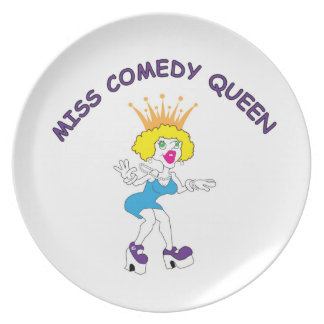 Miss Comedy Queen Melamine Plate