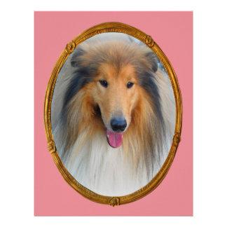 Miss  Elegant Lady Collie DogMulti products select Custom Letterhead
