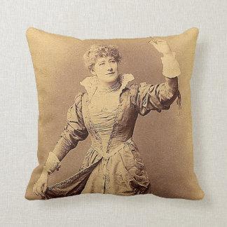 Miss Ellen Terry as Beatrice Throw Pillow