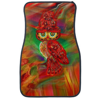 Miss Extravagance Fall Fashion Owl Car Mat
