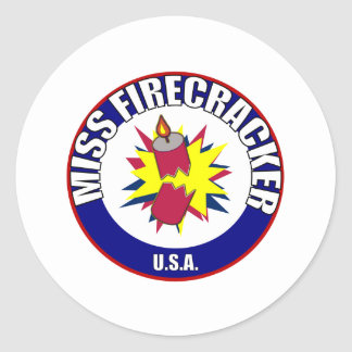 Miss Firecracker stickers
